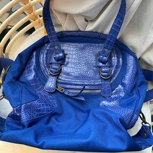 LULULEMON | Vintage Blue Lululemon Faux Croc Bag